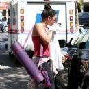 Vanessa Hudgens at the Yoga Shelter in Studio City (August 29)
