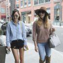 Ashley Greene and Cara Santana at a nail salon in Los Angeles - 454 x 638