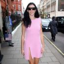 Liberty Ross In Pink Dress Leaves Her Hotel In London