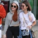 Madelaine Petsch and Adelaide Kane at Stanley Park in Vancouver July 11, 2017