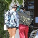 Addison Rae and Kourtney Kardashian – Grabbing coffee at Alfreds in Studio City
