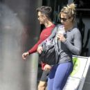 Gemma Atkinson and Gorka – Leave a gym in Manchester - 454 x 522