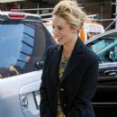 """Dianna Agron: out promoting season 4 of """"Glee"""" in NYC"""