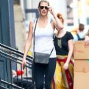 Kate Upton stops by a gym for a workout in New York City, New York on August 1, 2016