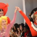 Modelling the catwalk for Pam Hogg AW2012 - 454 x 296