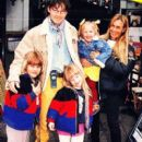 Camilla Malmquist and Morten Harket with kids, 1996