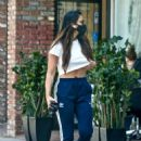 Olivia Munn – Looks sporty wearing Addidas while leaving a nail salon in Studio City - 454 x 635