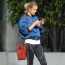 Arielle Kebbel in Tights – Out in Beverly Hills