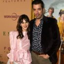 Zooey Deschanel – In Pink Short dress at 'Emma' premiere in Los Angeles