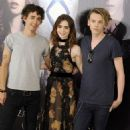 """Lily Collins, Jamie Campbell Bower and Robert Sheehan at """"The Mortal Instruments: City of Bones"""" photocall in Madrid (August 22)"""