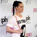 Katy Perry arrives at the grand opening of Britney Spears' two-year residency
