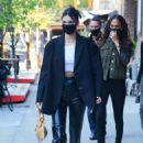Kendall Jenner – With Joan Smalls at Greenwich Hotel in New York