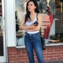 Aimee Garcia in a white tank top and denim jeans at Fred Segal in West Hollywood - 454 x 663