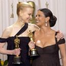 Nicole Kidman and Catherine Zeta-Jones At The 75th Annual Academy Awards (2003) - Press Room