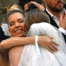 Sylvie Meis at Victoria Swarovski wedding in the San Giusto church in Trieste - 454 x 303