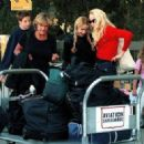 Mick Jagger & Jerry Hall with their 3 older children, Elizabeth, James and Georgia May in Southern California -  October/1999
