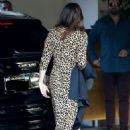 Mandy Moore in Animal Print Dress at Sunset Towers Hotel in Hollywood