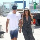 Cindy Crawford and Rande Gerber at the beach in Miami