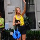 Blake Lively - On The Set Of Gossip Girl In NYC, 2010-08-18