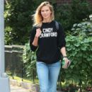 Karlie Kloss is spotted out and about in New York City, New York on September 3, 2015