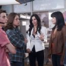 Neve Campbell as Sidney Prescott, Nico Tortorella as Trevor Sheldon, Rory Culkin as Charlie Walker and Courteney Cox as Gale Weathers in Scream 4 (2011)