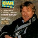 Robert Redford - Ciak Magazine Cover [Italy] (June 1988)