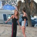Stella Maxwell and Taylor Hill – Photoshoot for Victoria's Secret in Venice Beach