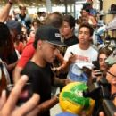 NEYAMI VICE Neymar talks at Nike event in Miami after storming out of Barcelona training session following bust-up with Nelson Semedo