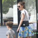 Natalie Portman Out With Her Family In La