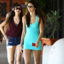 Kendall and Kylie Jenner after lunch with friends at Health Nut restaurant in Woodland Hills, CA (July 9)