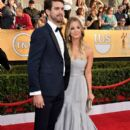 Ryan Sweeting and Kaley Cuoco attend the 20th Annual Screen Actors Guild Awards at The Shrine Auditorium on January 18, 2014 in Los Angeles, California - 395 x 594