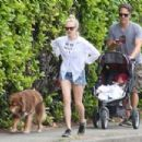 Amanda Seyfried in Shorts with Thomas Sadoski out in Vancouver