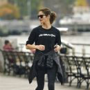 Jill Hennessy – Jogging at a park in New York - 454 x 678