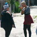 Amber Rose on the Set of 'School Dance' in Norwalk, California -  June 18, 2012 - 445 x 594