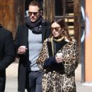 Alexa Chung in Leopard Prin Coat out in New York - 454 x 573