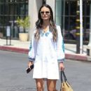 Jordana Brewster in Summer Dress out in West Hollywood - 454 x 696