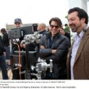 Tom Cruise and director James Mangold review a scene on the set of KNIGHT AND DAY. Photo credit: Frank Masi - 454 x 344