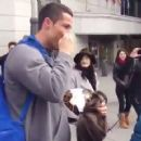 Cristiano Ronaldo surprises young fan by revealing his true identity after dressing up as homeless man in Madrid