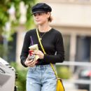 Lucy Hale in Ripped Jeans at Coffee Bean in Studio City