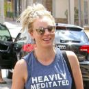 Kaley Cuoco Leaving Workout in Studio City - 454 x 549