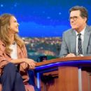Jessica Alba - The Late Show with Stephen Colbert - 454 x 313