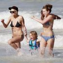 Ashlee Simpson Hits the Beach in a Bikini