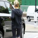 Sarah Harding Leaving A Gym In North London
