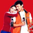 Aishwarya Rai with Aamir Khan for Coca Cola Commercial