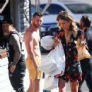 Renee Bargh in Floral Mini Dress – Out in Bondi