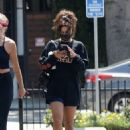 Vanessa Hudgens – Seen leaving a gym in Los Angeles
