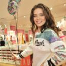 Emily Didonato Victorias Secret Pink Limited Release Varsity Crew Launch In Buffalo