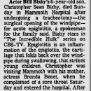Brenda Benet and Bill Bixby Lose Son Chris - Newspaper Article From 1981 - 254 x 332