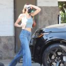 Kaia Gerber – Wearing denim while visits her dentist in Beverly Hills