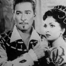 Errol Flynn and Gina Lollobrigida